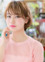 外国人風カラー☆耳かけアンニュイショート(髪型ショートヘア)