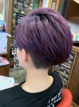 アシンメトリーショート(髪型ショートヘア)