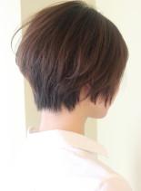 大人女子・丸みが可愛い柔らかショート(髪型ショートヘア)
