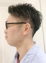 束感2ブロック黒髪メンズショート