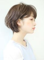 大人女性の横顔美人ショートボブ☆(髪型ショートヘア)
