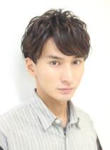 大人男性の爽やか短髪レイヤー(髪型メンズ)
