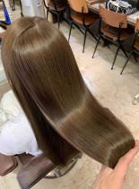 ダメージレスカラー 美髪 ツヤ髪(髪型ロング)