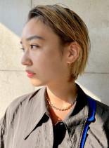 外国人風ブロンズボブ(髪型ボブ)
