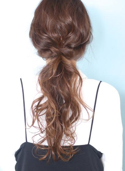 ◇ルーズなパーティーポニーテール◇(髪型ロング)