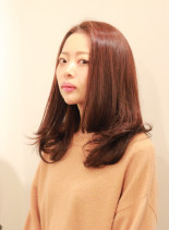 30代40代に似合う時短ロングヘア(髪型セミロング)
