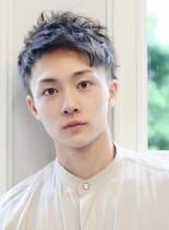 ツーブロック含む外国人風ベリーショート(髪型メンズ)