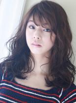 ロングパーマ (髪型セミロング)