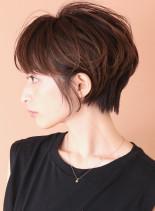 小顔レイヤーで美人ショート☆(髪型ショートヘア)
