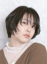 顔周りを包みこむ☆コンパクトショート(髪型ショートヘア)
