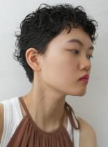 くせ毛パーマナチュラルベリーショート(髪型ベリーショート)