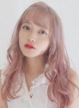 オルチャン風シースルーバングスタイル(髪型ロング)