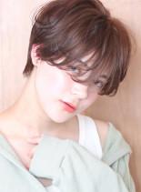オレンジブラウン◇大人のマッシュショート(髪型ショートヘア)