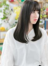 クールな黒髪横顔美人☆大人ロング(髪型ロング)