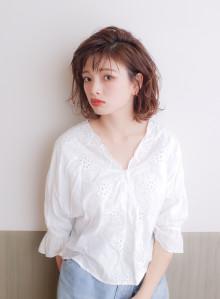 艶髪☆ラフな抜け感可愛い☆小顔ミディボブ(ビューティーナビ)