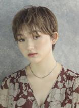 ナチュラルオシャレなショート(髪型ショートヘア)