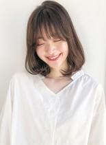 大人可愛いひし形レイヤーボブディ(髪型ミディアム)