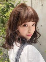 ガーリースタイル(髪型ミディアム)