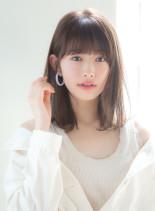透明感カラー×揺れ感ミディ(髪型ミディアム)