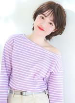 束感バング×小顔ショート(髪型ショートヘア)
