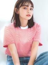 軽め前髪×揺れ感ミディ(髪型ミディアム)