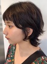 ショートマッシュウルフ(髪型ショートヘア)