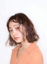 ゆるふわパーマボブ(髪型ボブ)