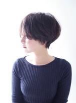 小顔効果☆大人のひし形ショートヘア