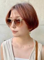 マッシュ×3Dカッパーグラデーション(髪型ショートヘア)