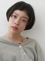 マッシュレイヤーボブ(髪型ショートヘア)