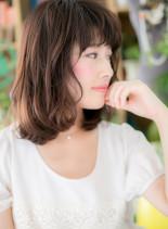 横顔美人☆アンニュイなふんわりミディ(髪型ミディアム)