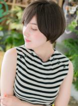 モード感ある☆大人ひし形マッシュショート(髪型ショートヘア)