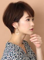 ☆30代・40代☆大人の小顔ショートボブ(髪型ショートヘア)