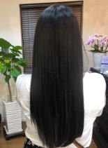 黒髪つやロング(髪型ロング)