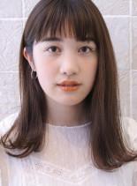 30代40代大人耳かけナチュラルセミディ(髪型セミロング)
