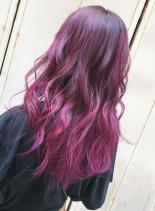 ベリー系ピンクカラー(髪型ロング)