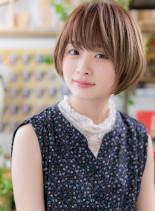 大人かわいいふんわりひし形ショート(髪型ショートヘア)