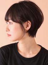 黒髪ならサラっとストレートショート☆(髪型ショートヘア)
