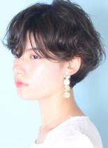 クシャっと大人可愛い◇パーマショート(髪型ショートヘア)