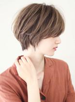 空気感のあるくびれショート(髪型ショートヘア)