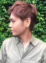 アップバングショートヘア(髪型メンズ)