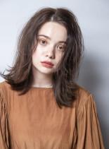 ラフミディアム(髪型ミディアム)
