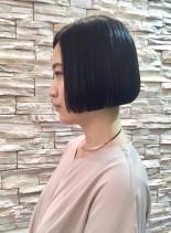 黒髪 ショートボブ(髪型ショートヘア)