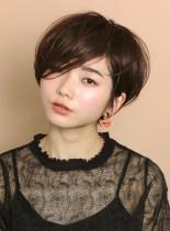 大人かわいい☆クールマッシュショート(髪型ショートヘア)