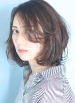 ふんわり大人の◇ひし形レイヤーボブディ(髪型ボブ)