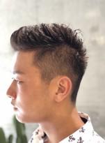 外国人風 ツーブロックショートヘア