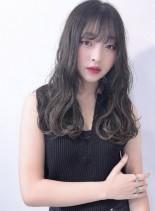 カット+ハーフブリーチ+ホワイトブラウン(髪型ロング)