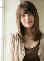 美髪 カジュアルストレート(髪型セミロング)