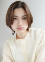 ひし形シルエット ボブ(髪型ボブ)