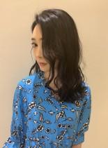 艶感オトナロング(髪型セミロング)